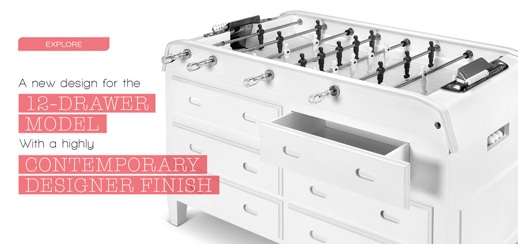 Explore A new design for the 12-drawer model With a Highly Contemporary Designer finish