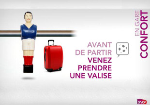 Bonzini and the SNCF: foosball at the station!