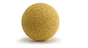 Cork ball Yellow dyed