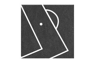 Tapis noir avec lignes